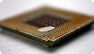 Reiskorn auf Microprocessor